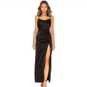 NEW Alice + Olivia Diana Sleeveless High-Slit Gown